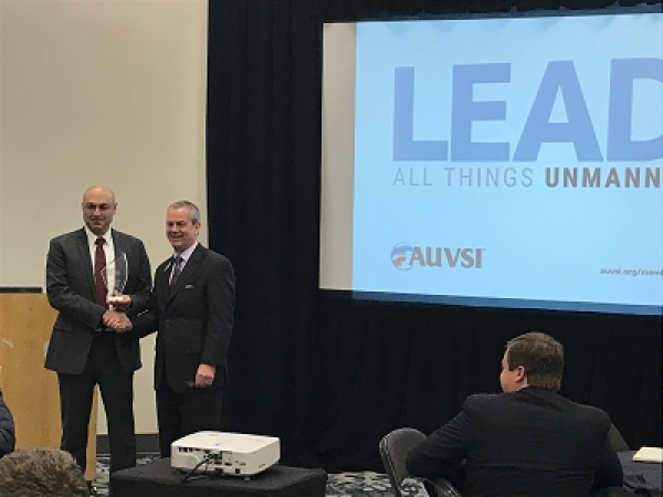 AUVSI New England was selected as Chapter of the Year from the 36 AUVSI chapters internationally.